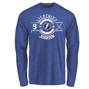Tyler Johnson Tampa Bay Lightning Men's Royal Branded Insignia Tri-Blend Long Sleeve T-Shirt -
