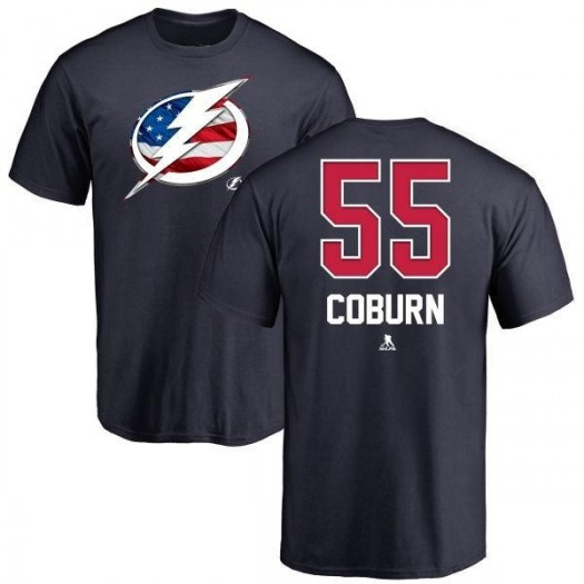Braydon Coburn Tampa Bay Lightning Youth Navy Name and Number Banner Wave T-Shirt -