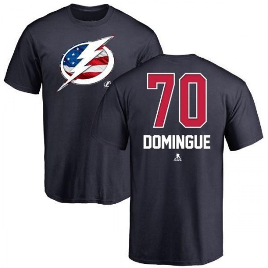 Louis Domingue Tampa Bay Lightning Youth Navy Name and Number Banner Wave T-Shirt -