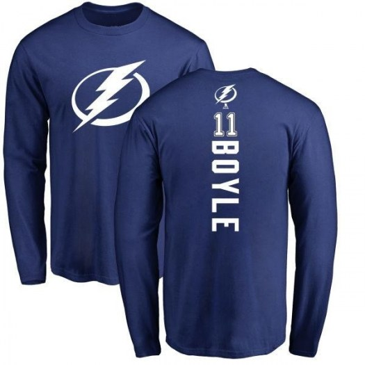 Brian Boyle Tampa Bay Lightning Youth Royal Branded Backer Long Sleeve T-Shirt -